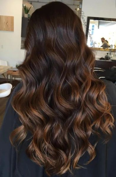 Highlights on dark brown hair