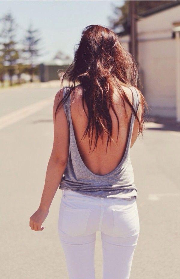 Sleeveless backless shirt for girls