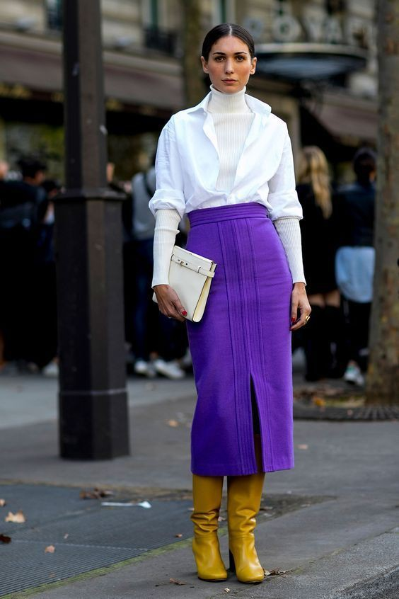 Street style purple and yellow