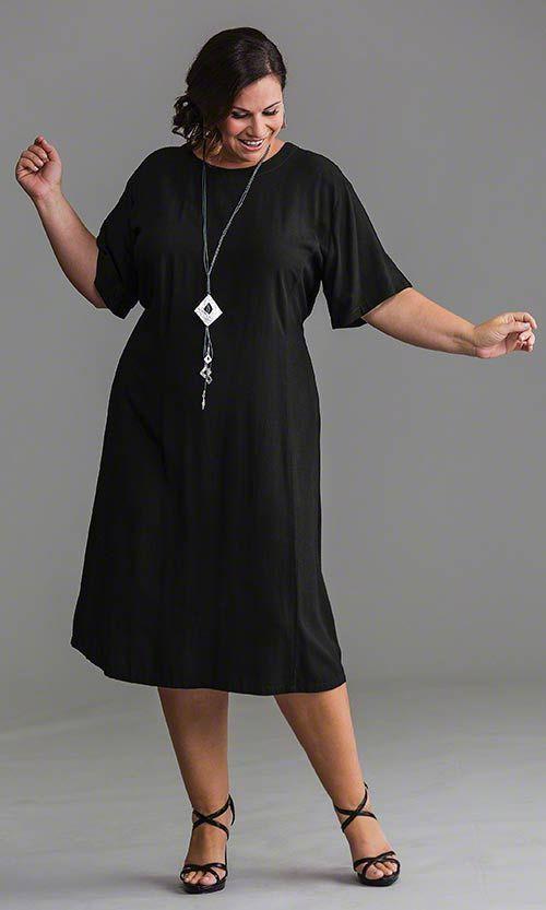 Womens active wear little black dress, Plus-size clothing