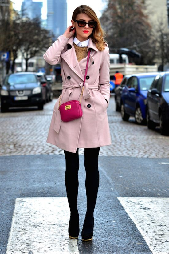Pale pink trench coat, Trench coat