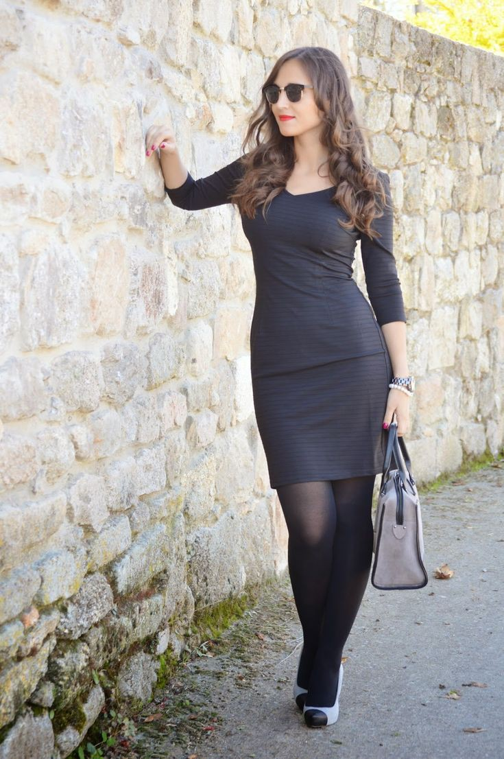Dresses With Stocking/Black Pantyhose, Little black dress