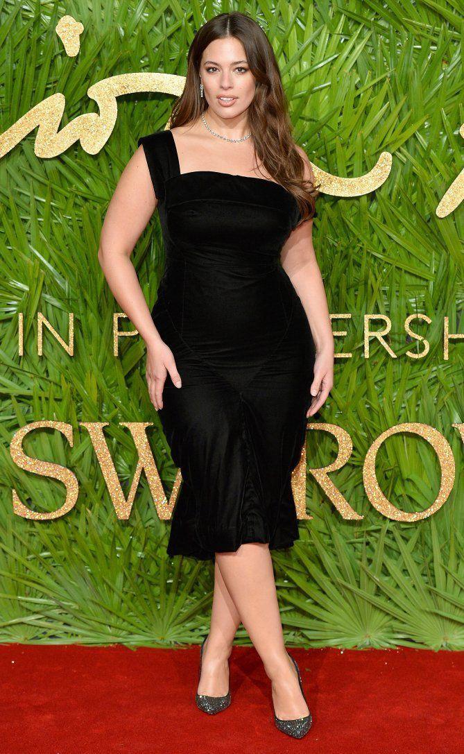 Ashley graham vestido preto, Ashley Graham
