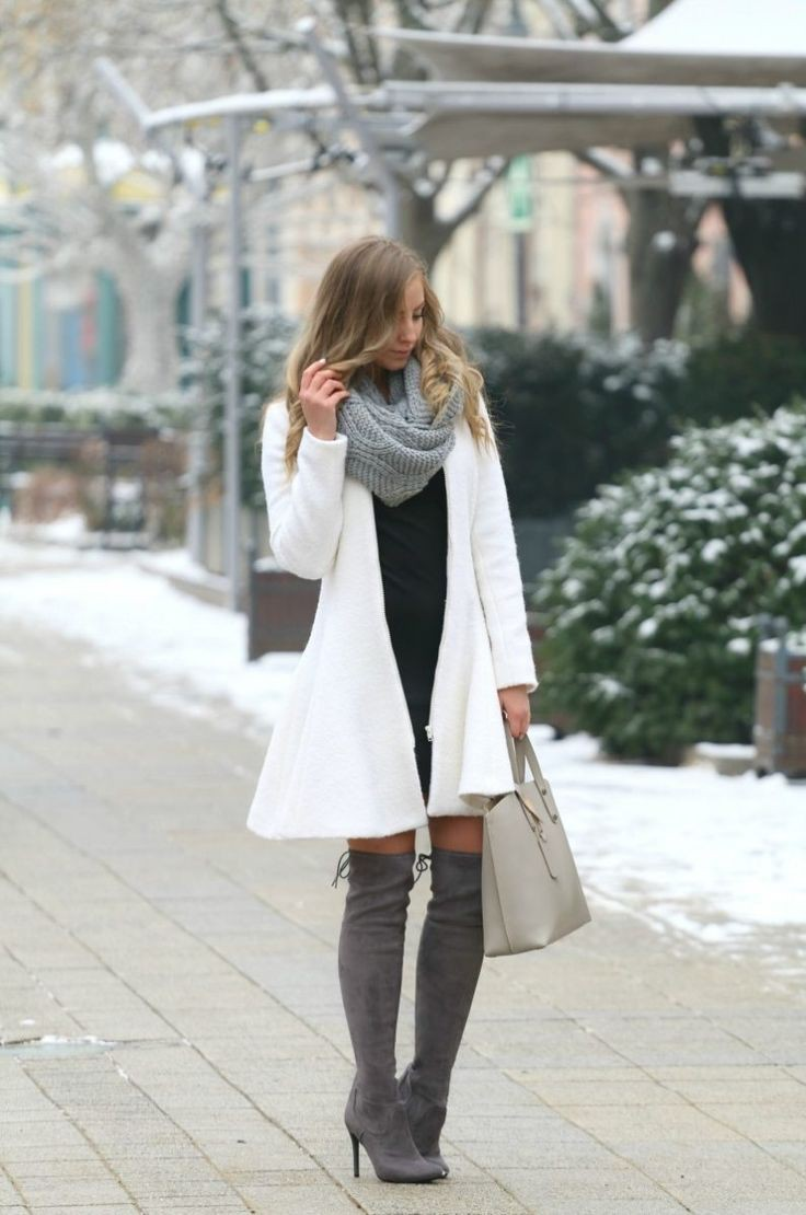Stylish Snowing Outfit/Snow Outfit Ideas, Style and Blog, Trench coat