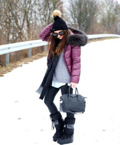 Dress up for winter in canada