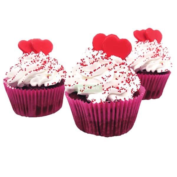 6 Red Velvet Cupcakes