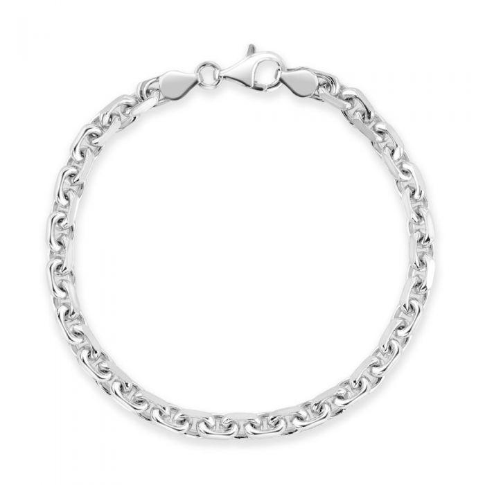 Sterling Silver 4.6mm Anchor Bracelet Diamond Cut £40.00