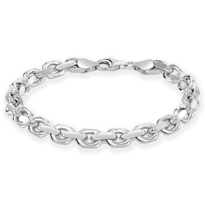 Sterling Silver 6.3mm Anchor Bracelet Diamond Cut £60.00