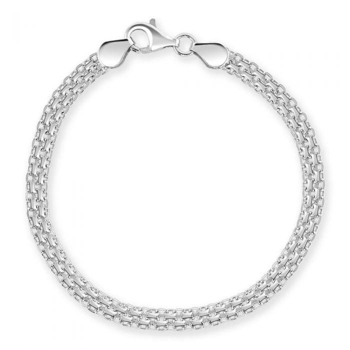 Sterling Silver 4.4mm Bismark Bracelet £19.00