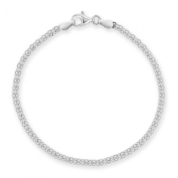 Sterling Silver 2.4mm Bismark Bracelet £9.00