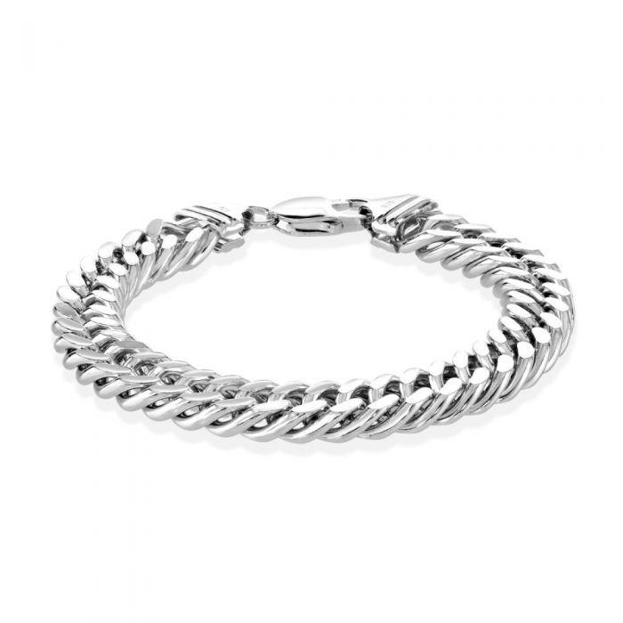 Sterling Silver 10.6mm Double Curb Bracelet Diamond Cut £132.00