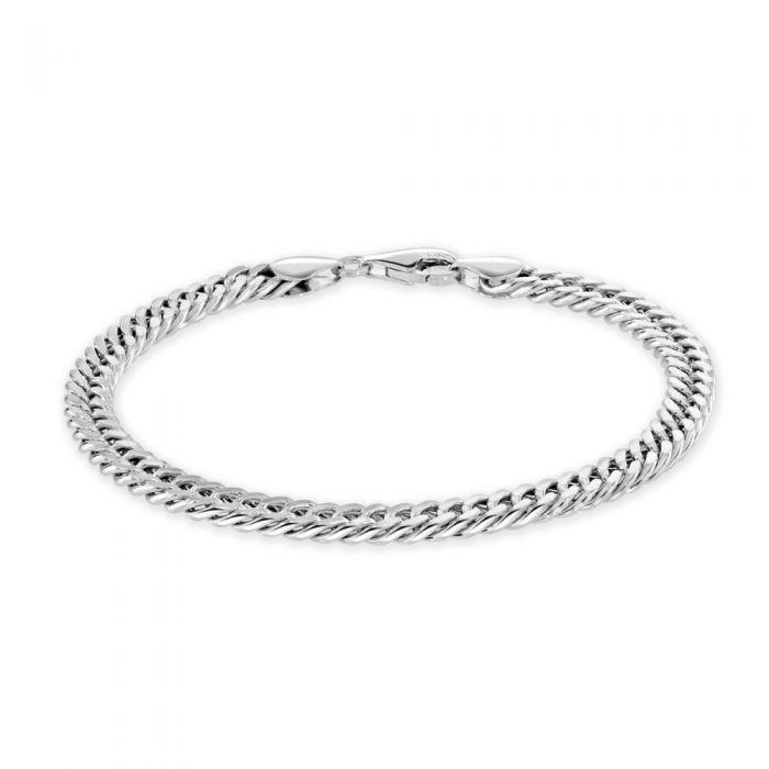 Sterling Silver 5.7mm Double Curb Bracelet Diamond Cut £39.00