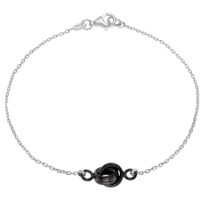 Sterling Silver Infinity Circle Knot Charm Bracelet 7.5″ £15.00