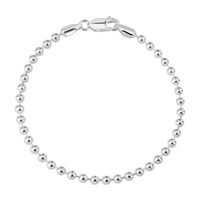 Sterling Silver 3mm Ball Bead Link Bracelet £12.00