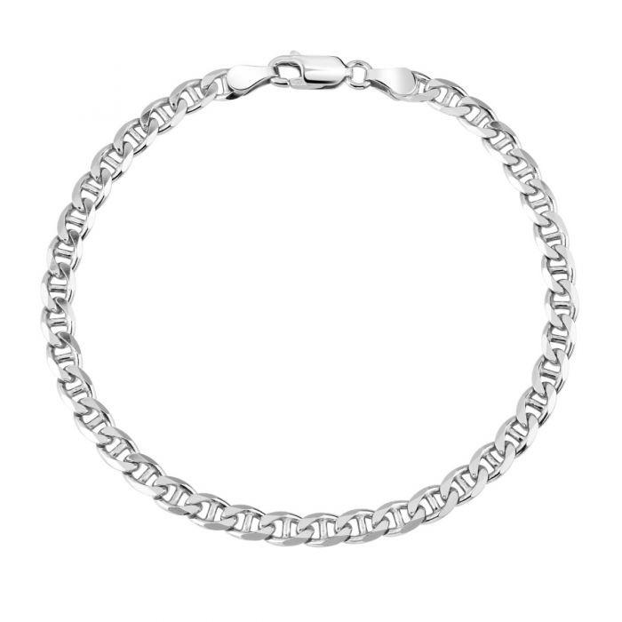 Sterling Silver 4.6mm Diamond Cut Marina Link Bracelet £25.00
