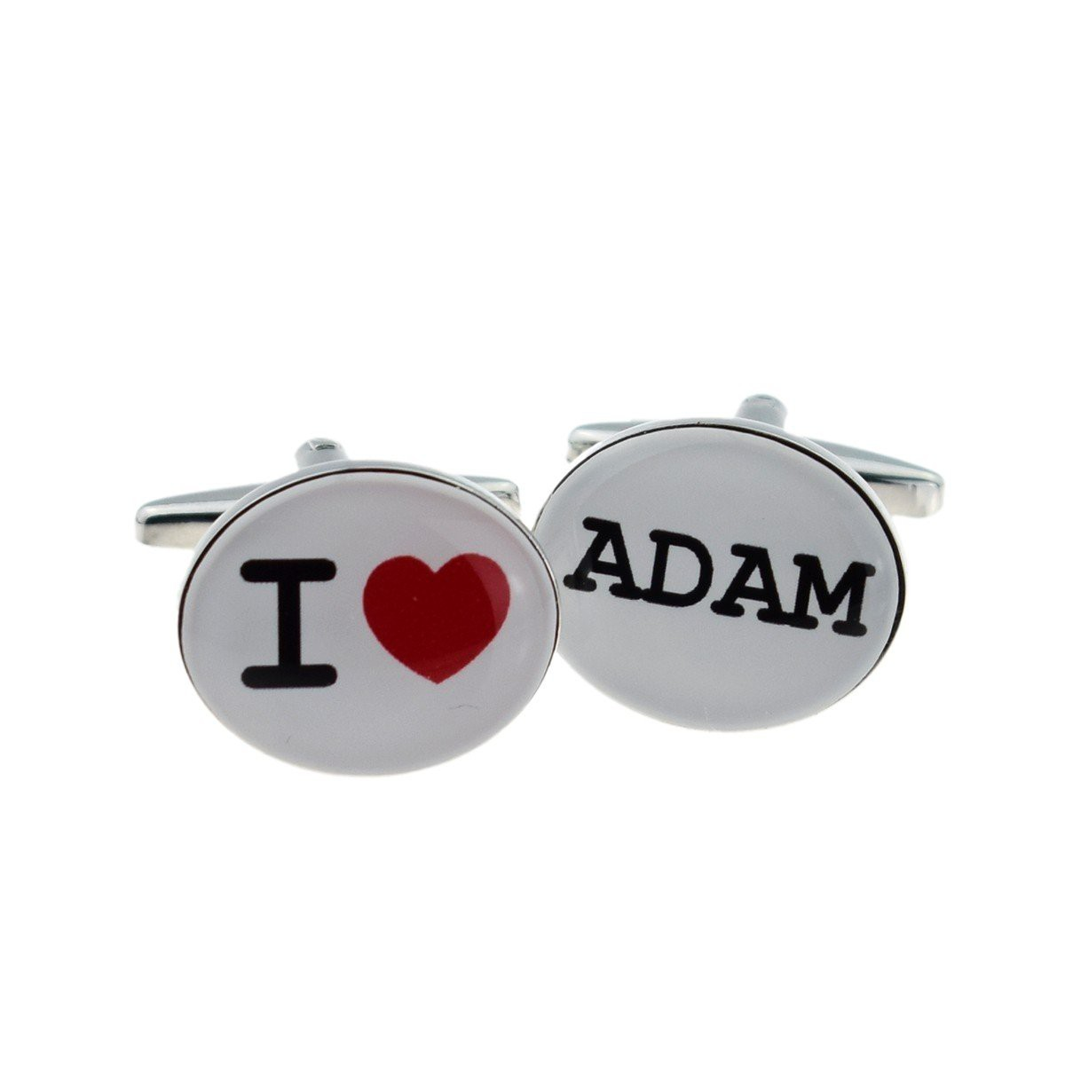 PERSONALISED I LOVE CUFFLINKS £24.99