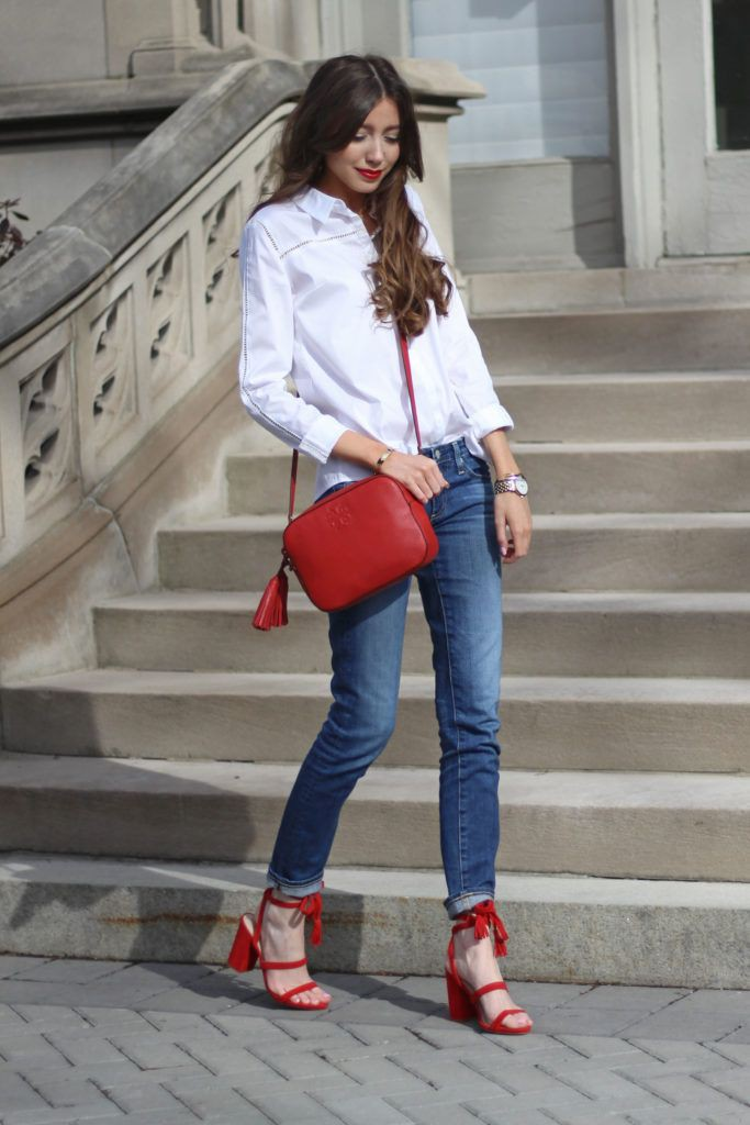 Outfits With Red Shoes, Dress shirt