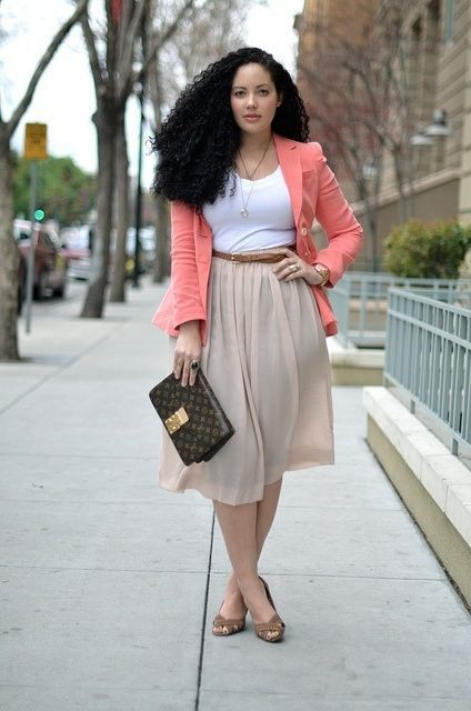 Plus size summer office wear
