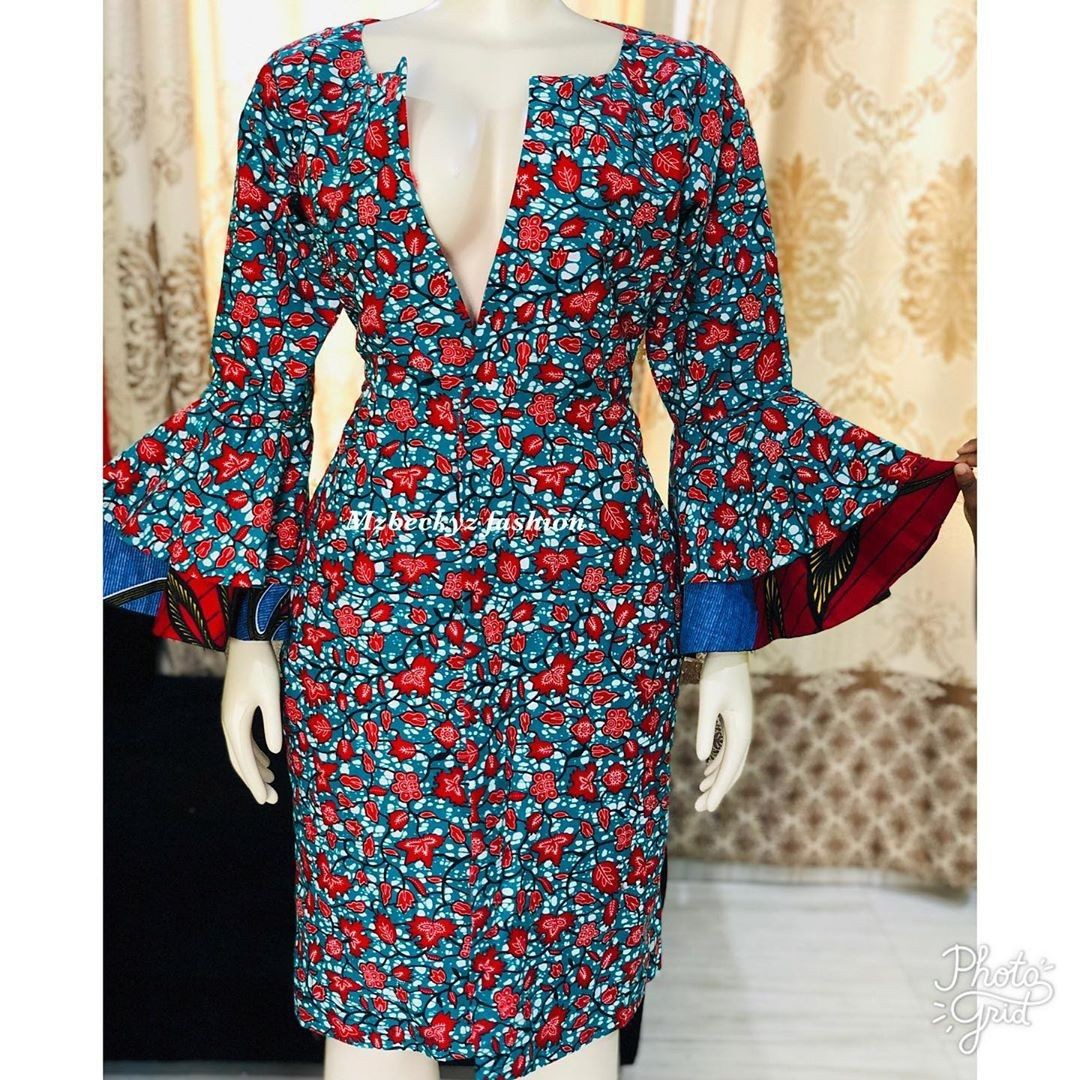 Check these latest ideas day dress, African wax prints