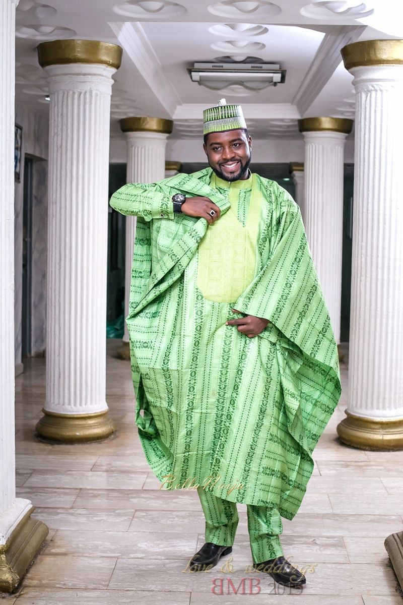 Green nigerian outfit men, African Dress