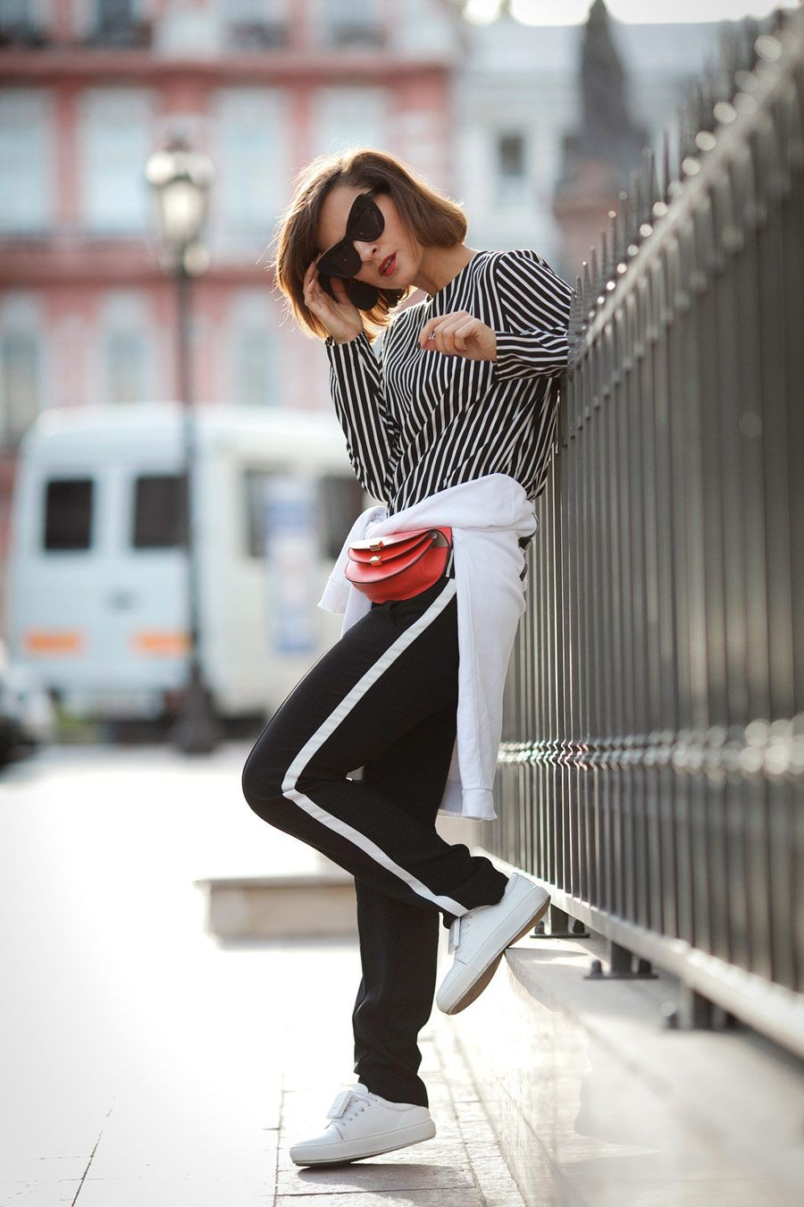 Evening outfit ideas for sport style outfit, Fanny pack
