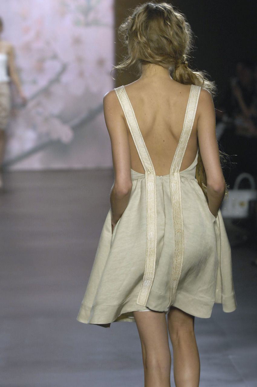 Collections of fashion model, Backless dress