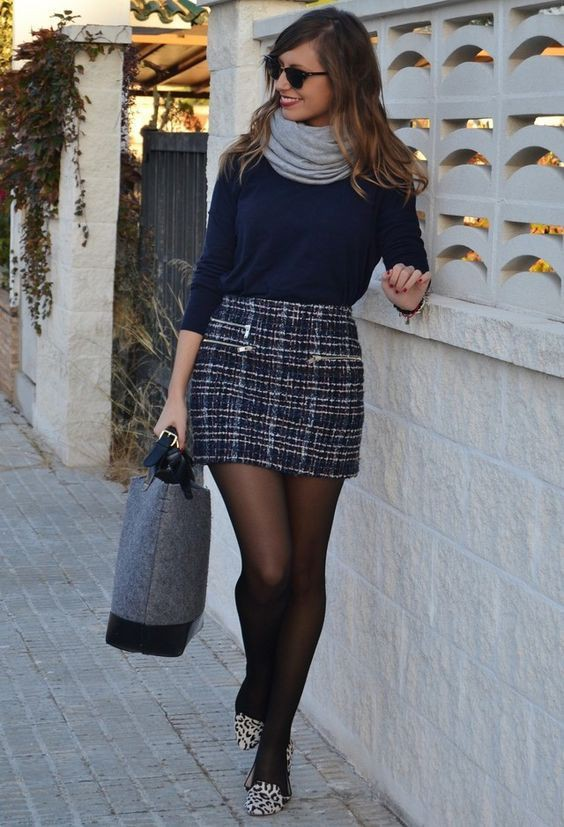Cute winter outfits with skirts