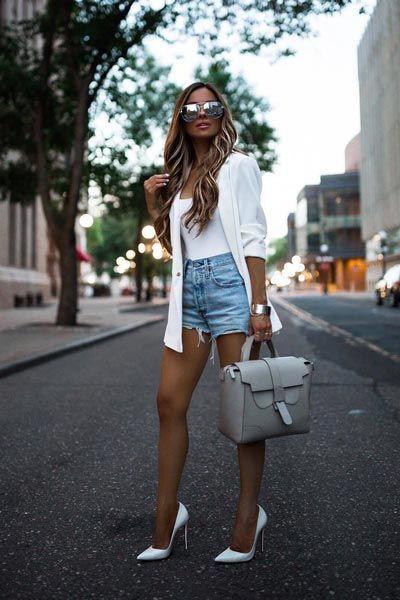 Marvelous design for blazer shorts pumps, Casual wear