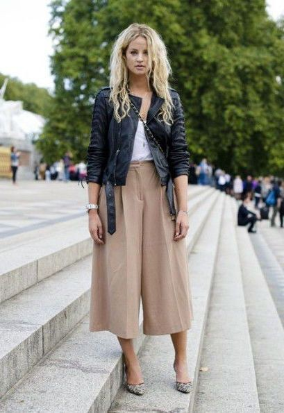 High Waist Culottes Outfit