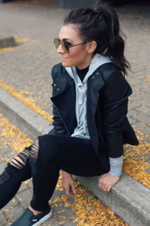 Outfits for new mexico, Leather jacket