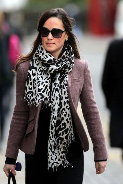 Cute and nice pippa middleton scarf, Leopard Print Scarf
