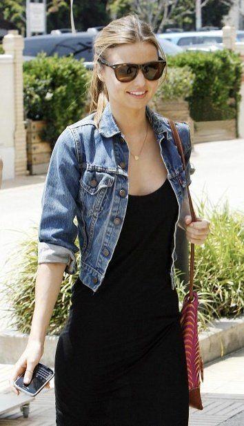 Miranda kerr denim jacket