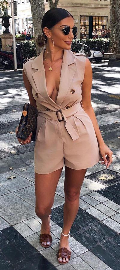 You can't afford to miss these khaki rompers, Romper suit