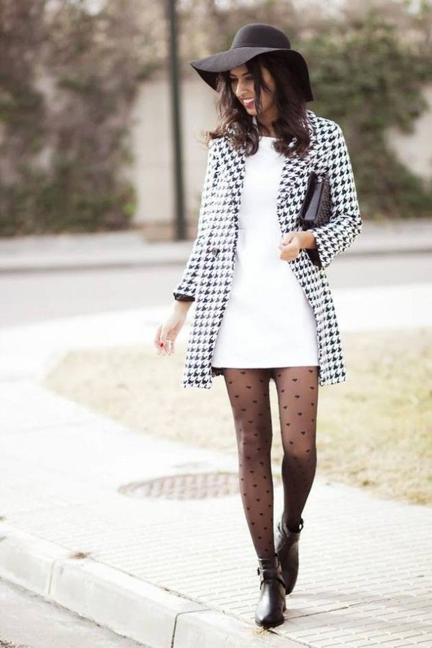 Shorts Outfits With Polka Dot Tights
