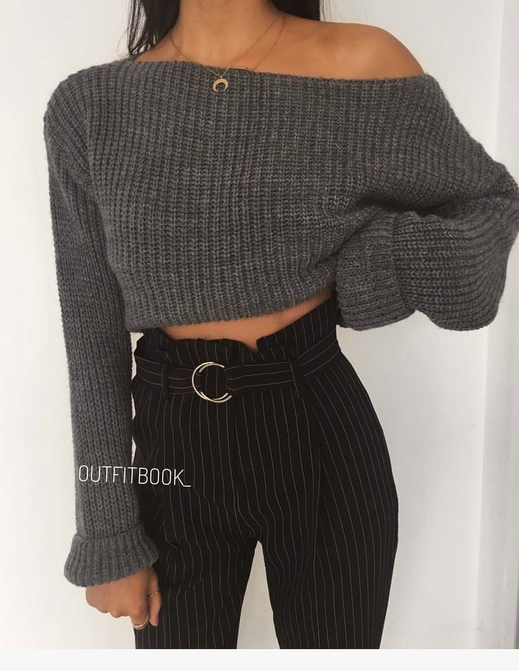 Cropped Sweaters Outfits, Tube top