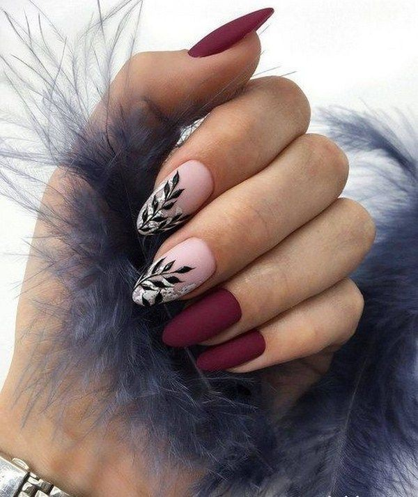 Once in life time burgundy nail designs, Nail art