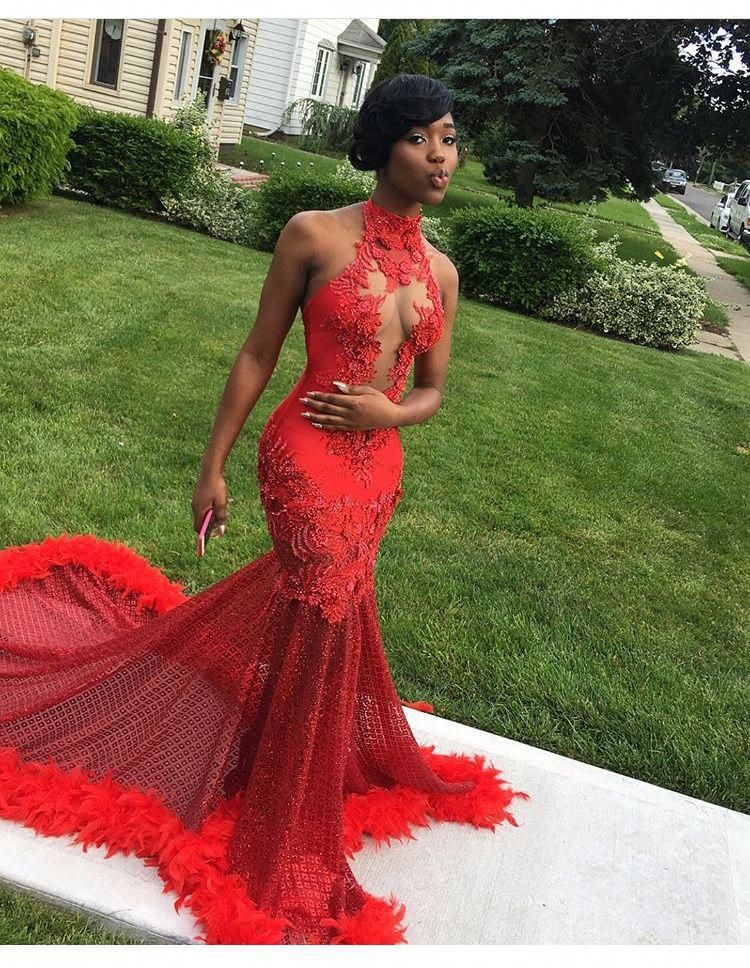 Bodycon prom dress for black girls