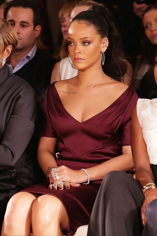 Rihanna fashion week front row
