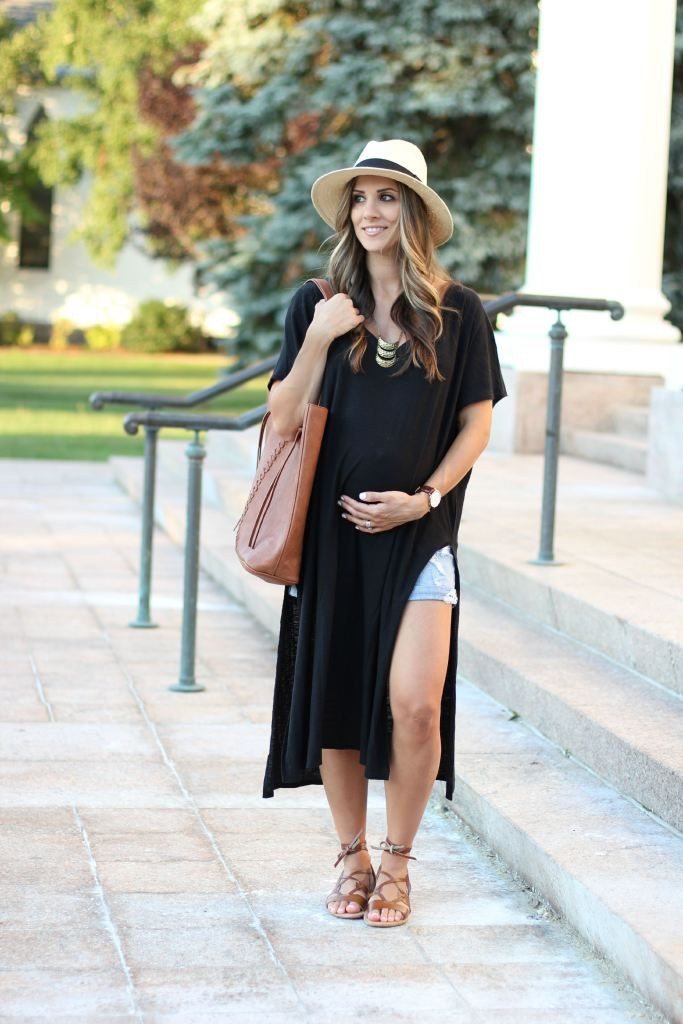 Outfit Ideas For Pregnant Ladies – Maternity Outfits, Little black dress, Side Slit Dress