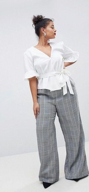 Plus Size Work Outfit, Cache-cœur, Plus-size model