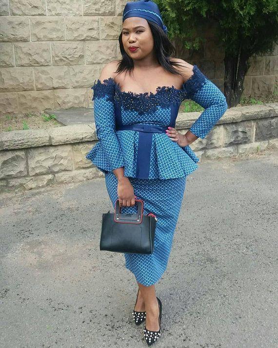 Most desired peplum shweshwe dresses