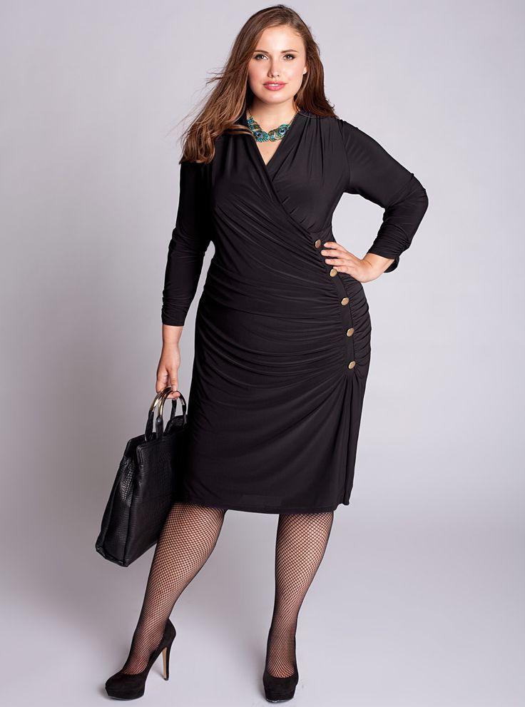 Curvy women in black pantyhose