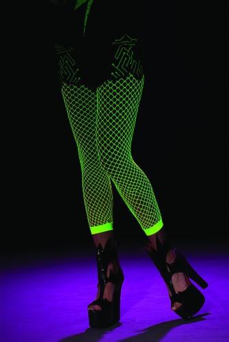Glow in the dark fishnet tight for girls