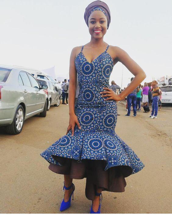 Royal Blue shweshwe dresses