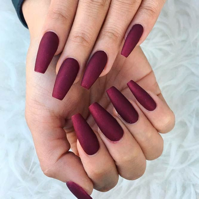 Most awaited burgundy nails, Nail art