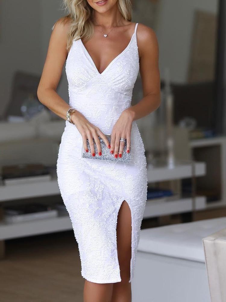 Semi formal white cocktail dress
