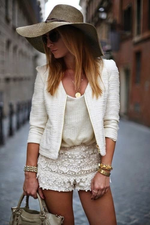 Worth trying these beautiful lace shorts outfit, Casual wear