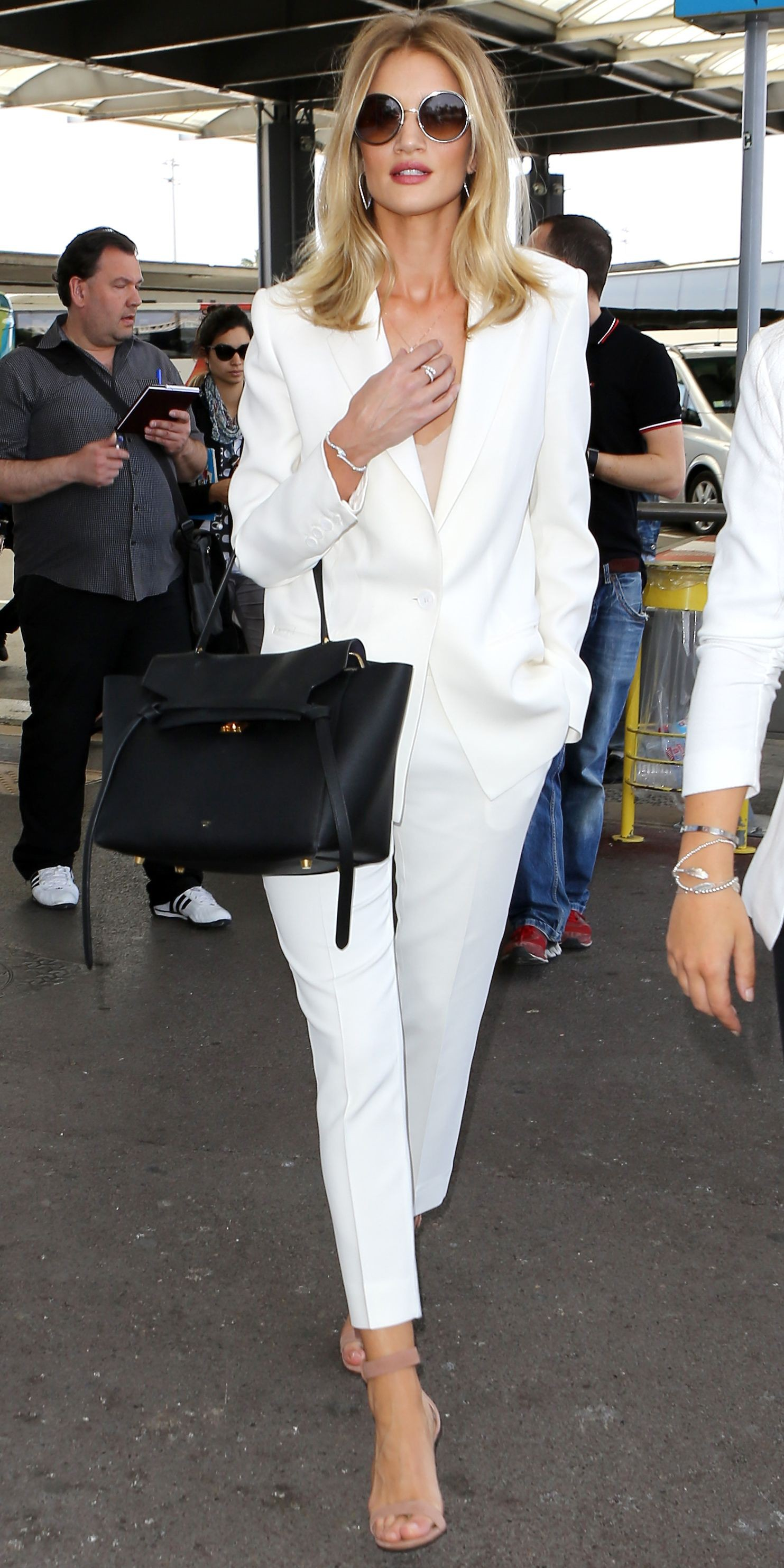Celebrities street style in white