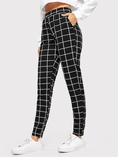 Finest tips for shein grid pants, Slim-fit pants