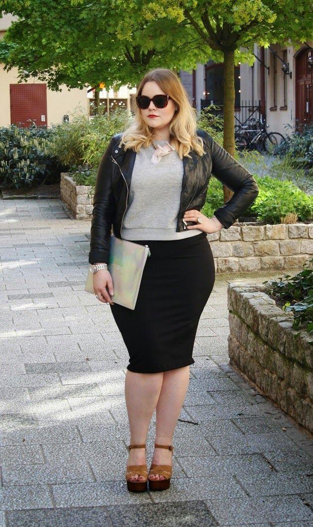 Falda lapiz para gorditas, Leather jacket